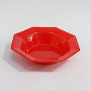 Bowl octogonal rojo por 10u.