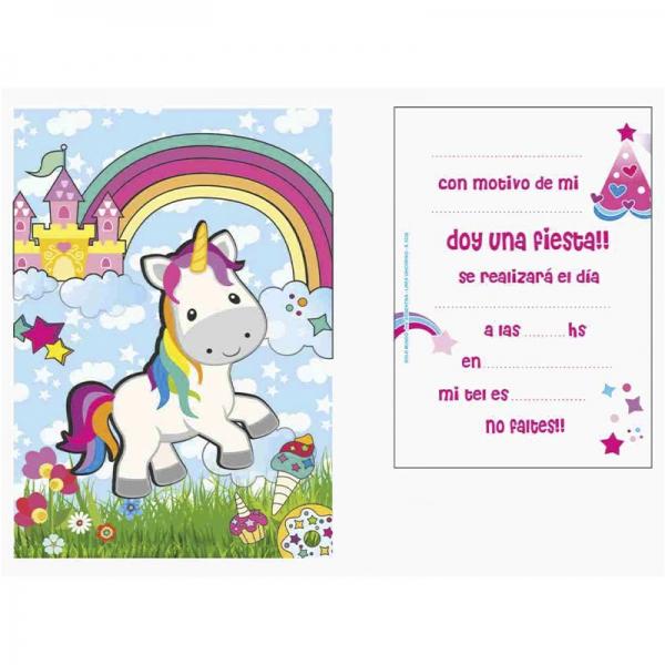 Invitacion Unicornio