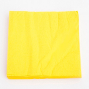 Servilletas amarillas 33cm². por 40u.