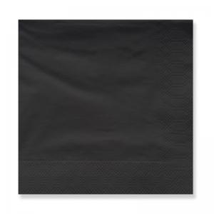 Servilletas negras 33cm². por 40u.