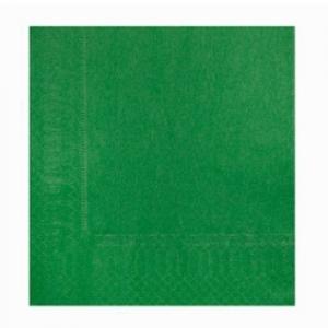 Servilletas verde 33cm². por 40u.