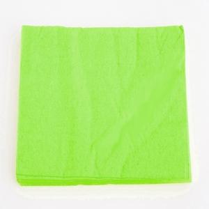 Servilletas verde manzana 33cm². por 40u.