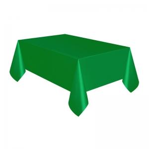 Mantel verde oscuro descartable