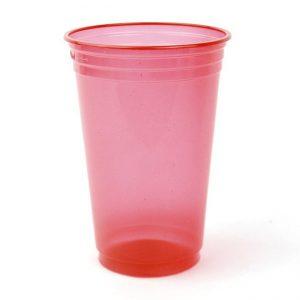 cotillón fiesta, descartables en mendoza, descartables para fiestas, ofertas en mendoza, vasos descartables, Vasos neón rojo